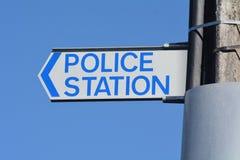 Panneau routier de police Images libres de droits