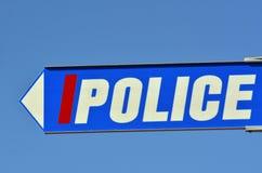 Panneau routier de police Photographie stock libre de droits