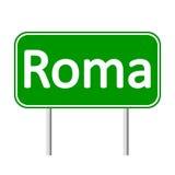 Panneau routier de Roma illustration stock