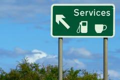 Panneau routier de services Image stock
