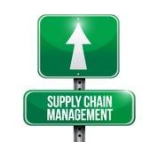 panneau routier de supply chain management illustration de vecteur