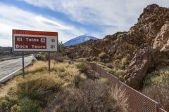 Panneau routier de teide d'EL Photo libre de droits