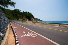 Panneau routier de vélo Photo libre de droits
