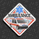 Panneau routier de vecteur pour l'ambulance illustration libre de droits
