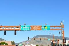 Panneau routier en Cody Wyoming Image libre de droits