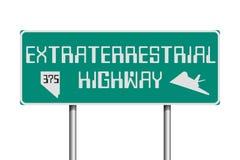 Panneau routier extraterrestre de route illustration stock
