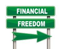Panneau routier financier de vert de liberté Photo libre de droits