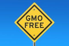 Panneau routier gratuit d'OGM illustration libre de droits
