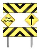Panneau routier jaune et noir de précaution Photographie stock
