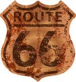 Panneau routier sale de l'itinéraire 66, illustration de fictonal illustration libre de droits