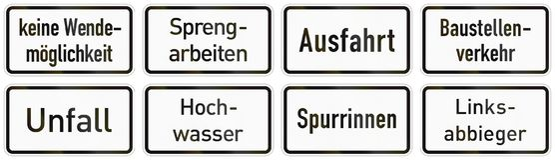 Panneau routier supplémentaire allemand - aucune rotation possible illustration libre de droits
