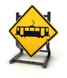 Panneau routier - train illustration libre de droits