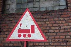 Panneau routier triangulaire Photographie stock libre de droits