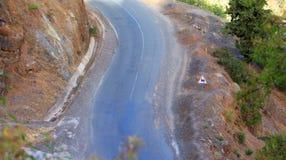 Panneau routier utilisé au Maroc, image stock