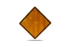Panneau routier vide avec le chemin de coupure images stock