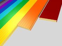 Panneau 'sandwich' différent de couleur Photographie stock libre de droits