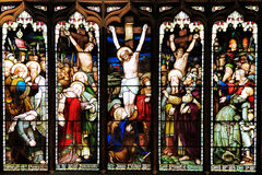 Panneau sans couture coloré de fenêtre en verre teinté à Edimbourg Photographie stock libre de droits