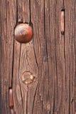 Panneau sec rouge de vintage avec des clous Photographie stock libre de droits