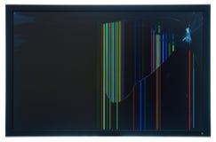 Panneau Shuttered cassé réel de moniteur de l'affichage à cristaux liquides TFT Photo stock
