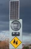 Panneau solaire au travail. Images stock