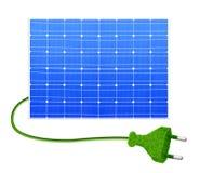 Panneau solaire avec la prise illustration de vecteur