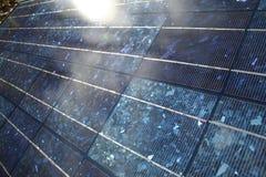 Panneau solaire brillant Photos stock