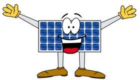Panneau solaire de dessin animé Photographie stock