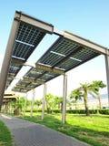 Panneau solaire de pouvoir photo libre de droits