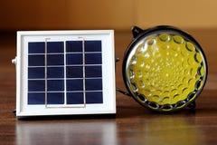 Panneau solaire et lumière Images libres de droits