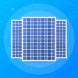 Panneau solaire fortement d?taill? ?nergie alternative moderne de vert d'Eco Illustration de vecteur illustration stock