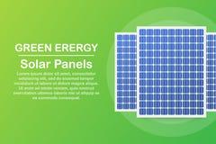 Panneau solaire fortement d?taill? ?nergie alternative moderne de vert d'Eco Illustration de vecteur illustration libre de droits