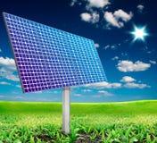 Panneau solaire. Pouvoir et énergie alternatifs photo libre de droits