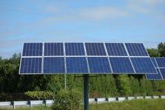 Panneau solaire près de stratford Ontario Images stock