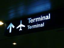 Panneau terminal de signe Photos stock