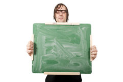 Panneau vert blanc Photos libres de droits