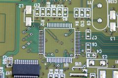 Panneau vert d'ordinateur Image stock