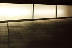 Caisson lumineux de ville, panneau-réclame Photographie stock
