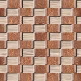 Panneautage décoratif abstrait - texture soufflée en bois de cannelure de chêne Photo libre de droits
