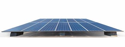 Panneaux à énergie solaire d'isolement images libres de droits