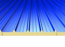 Panneaux bleus de toit Photos stock