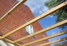 Panneaux conservateurs de toit photo libre de droits
