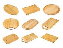 panneaux coupant divers en bois image libre de droits