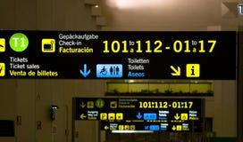 Panneaux d'aéroport Image libre de droits