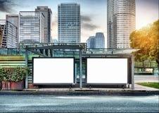 Panneaux d'affichage de bord de la route Photo libre de droits