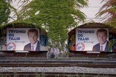 PANNEAUX D'AFFICHAGE DE DENMARK_ELECTION COMPAING Photo libre de droits