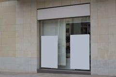 Panneaux d'affichage vides dans un bureau Photographie stock libre de droits