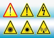 Panneaux d'avertissement Photo stock