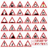 Panneaux d'avertissement Image libre de droits