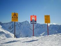 Panneaux d'avertissement Photographie stock