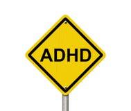 Panneaux d'avertissement d'ADHD Images libres de droits